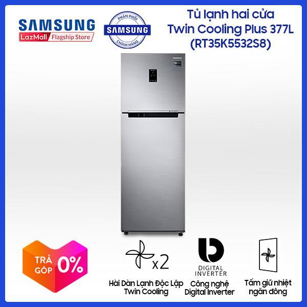 Tủ lạnh 2 cửa Samsung Twin Cooling Plus RT35K5532S8/SV 364L (Đen) - Hàng phân phối chính hãng