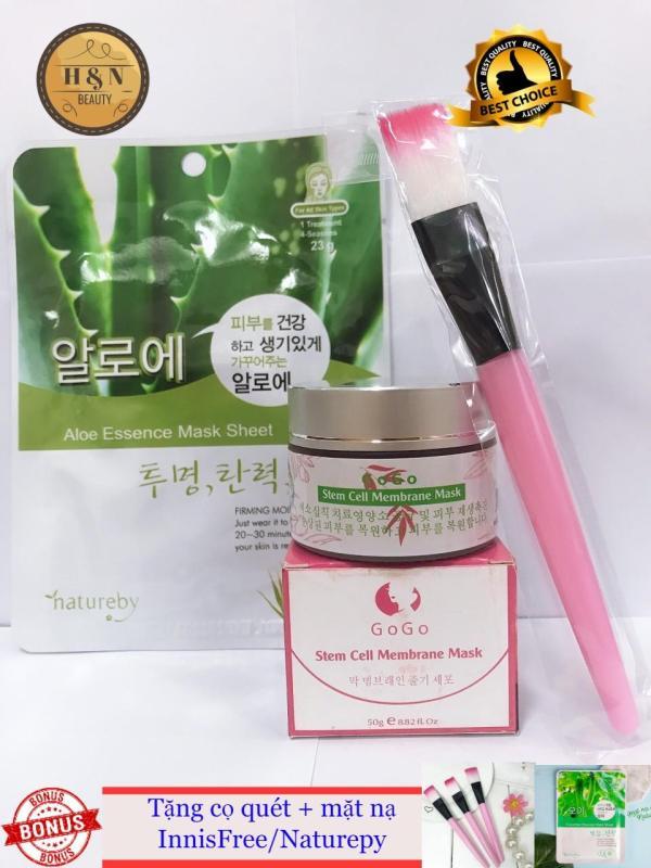 Mặt Nạ Màng Tế Bào Gốc GoGo Hàn Quốc (TẶNG KÈM CỌ QUÉT & MẶT NẠ INSFREE/NATURE)