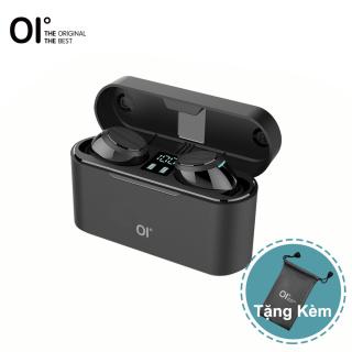 OI AirSounds Một tai nghe không dây siêu thật Bộ cảm ứng Bluetooth 5.1 với bộ thay đổi giọng nói Màn hình LED dung lượng cực lớn 1600mAh Phát lại 6H Sạc nhanh Khử tiếng ồn Tai nghe chơi game Bass sâu IPX6 Đen thumbnail