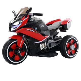 Xe máy điện moto 3 bánh FB-618 đồ chơi xe điện đạp ga cho bé thể thao (Trắng-Đỏ-Vàng-Xanh) thumbnail
