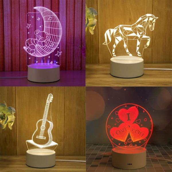 [Chọn Mẫu - Video] Đèn ngủ 3d led để bàn đèn trang trí, quà tặng sinh nhật độc đáo thông minh đẹp hơn đèn cảm ứng, treo tường, silicon