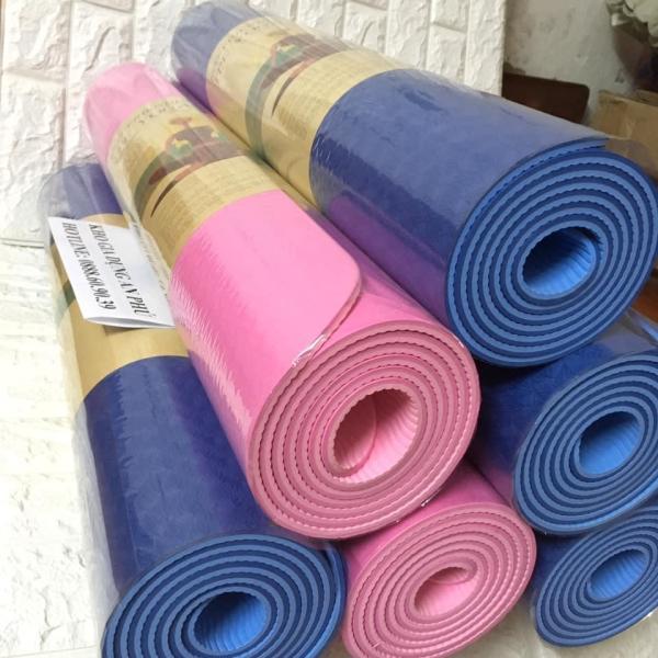 Thảm Tập Yoga Mat 2 lớp tpe cao cấp (tặng kèm túi đựng)