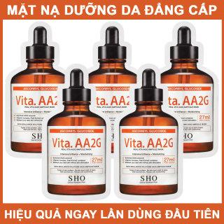 SET 5 GÓI Mặt nạ tinh chất làm Trắng da SHO Vita. AA2G Real Vita AA2G Ampoule Mask BK-bestke thumbnail