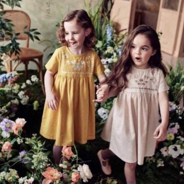Nơi bán Váy Họa Tiết Thêu Hoa Cho Bé Gái Từ 0-4 Tuổi - V594