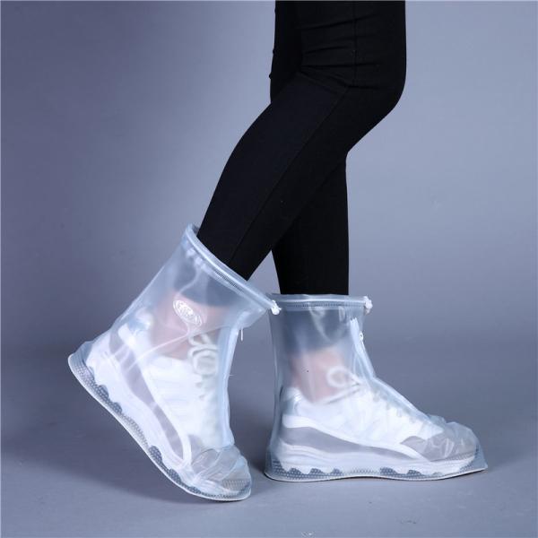 Giá bán Ủng đi mưa chống trượt dày dặn; Ủng đi mưa nam nữ chất liệu PVC trong suốt lồng ngoài giày dép trống trượt