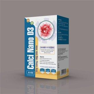 Viên Uống Tăng Chiều Cao Aquamin Calci Nano D3- Bổ Sung Canxi, Aquamin Tảo Biển Đỏ, Vitamin K2,D3 Giúp Phát Triển Chiều Cao, Xương Răng Chắc Khỏe, Ngừa Loãng Xương Ở Người Già- Hộp 30 Viên thumbnail