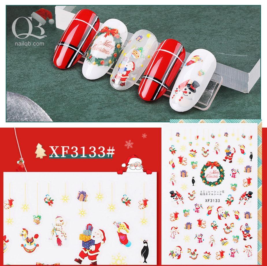 Nail sticker noel Giáng Sinh (Merry Chirstmas) decal trang trí móng cao cấp