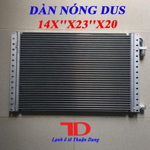 Dàn Nóng DUS 14x23 inch 36x59 cm dày 20mm, Dàn Nóng Điều Hòa Ô Tô