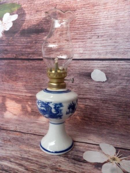 Đèn dầu gốm sứ loại nhỏ D7 cm, đủ bộ