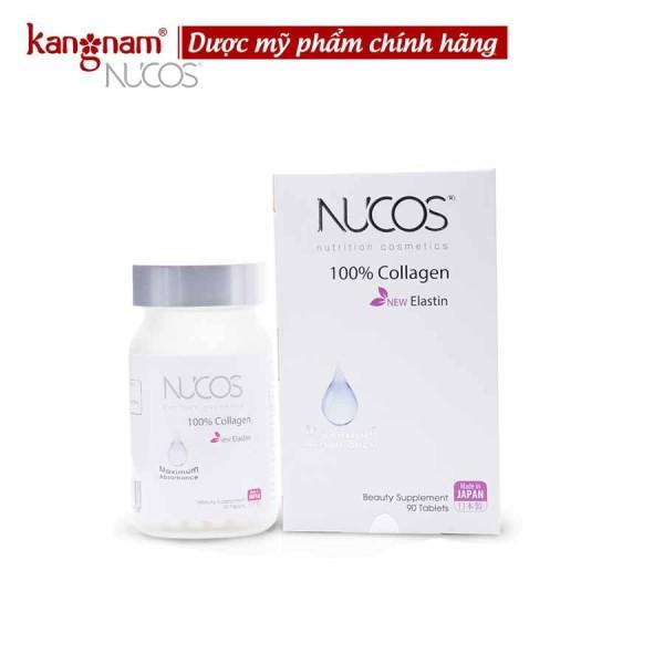 Nucos collagen viên uống collagen ngăn ngừa lão hóa da nucos collagen 100% hộp 90 viên, ngăn chảy xệ, giảm quá trình lão hóa da
