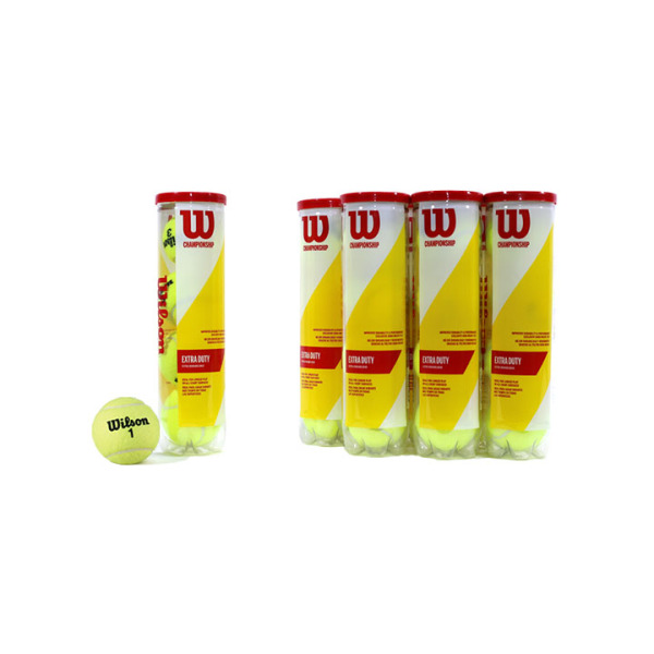 Bảng giá Combo 4 Hộp Banh Tennis Wilson đỏ 4 bóng ống