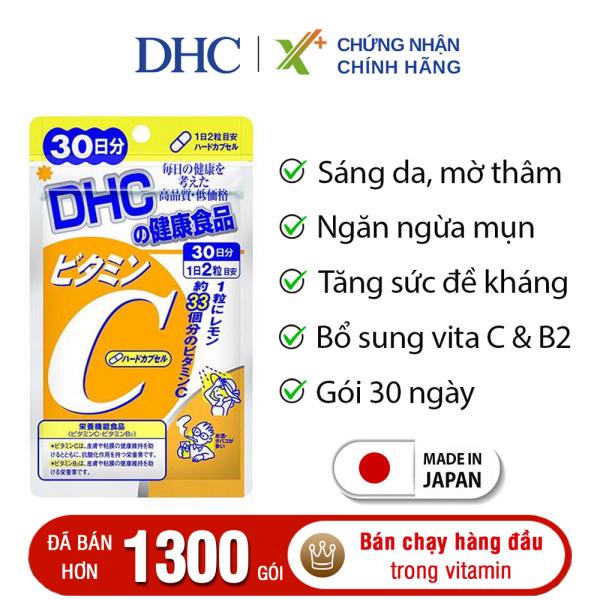 Viên uống Vitamin C DHC Nhật Bản thực phẩm chức năng giúp tăng cường đề kháng, sáng da & tăng sản sinh collagen 30 ngày XP-DHC-C30 cao cấp