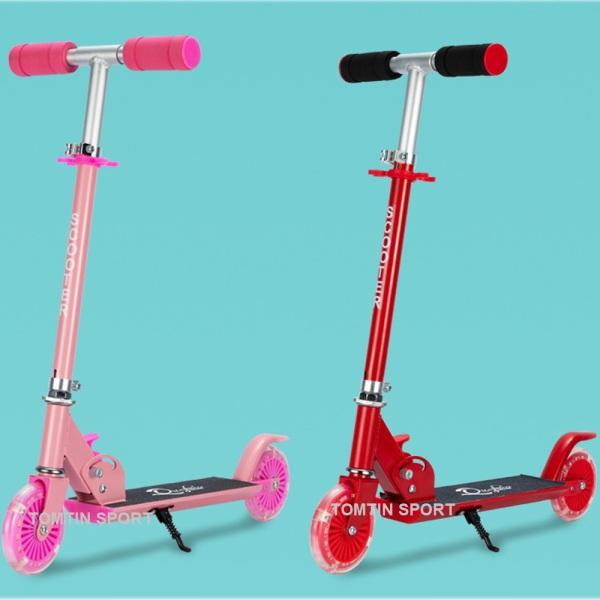 Xe trượt Scooter trẻ em có chân trống tiện lợi cao cấp chịu tải trọng lớn đến 50kg với 3 nấc chiều cao phù hợp cho bé trai bé gái từ 3-10 tuổi, có màu Đỏ, Đen, Xanh và Hồng [TOMTIN SPORT]