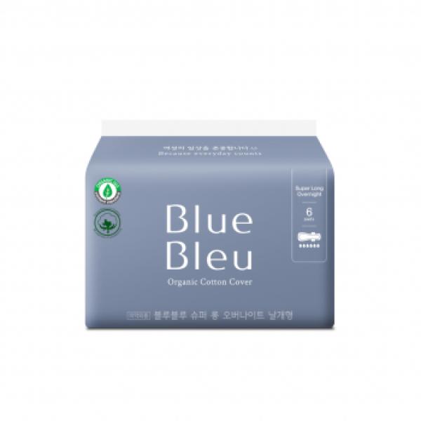 Băng vệ sinh trong chu kỳ tinh dầu cây bách Blue Bleu mỏng, có cánh 43 cm (6 miếng/gói) – BLUE BLEU giá rẻ
