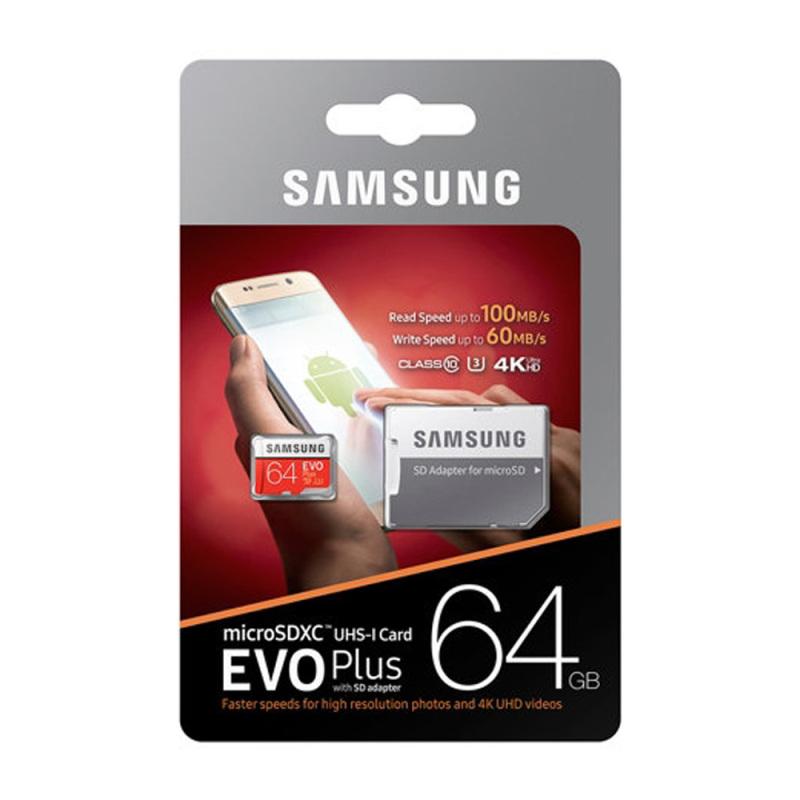 Thẻ Nhớ Sam Sung 100MB/S 64GB EVO Plus 10 Micro SDHC 64GB - Bảo hành 5 năm!