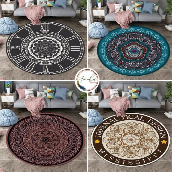 Thảm tròn bali 💖1mx1m💖 thảm bali tròn, miếng trải sàn An Như