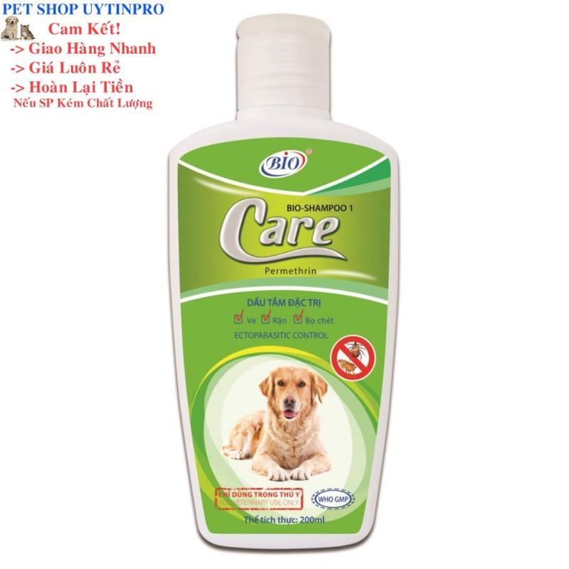 SỮA TẮM DIỆT VE RẬN BỌ CHÉT CHO CHÓ THÚ CƯNG PET Bio Care Shampoo 1 chai 200ml