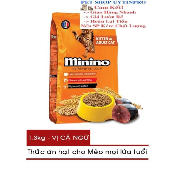 THỨC ĂN CHO MÈO Minino dạng hạt Gói 1.3kg Vị cá ngừ Thương hiệu pháp