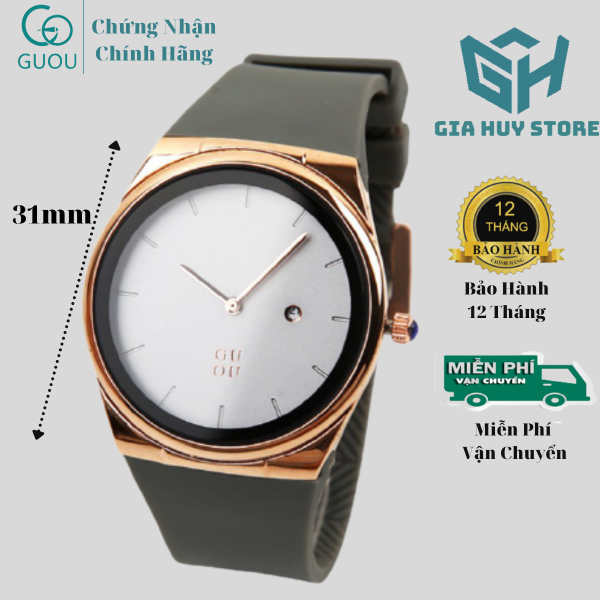 Nơi bán Đồng Hồ Nữ Guou Dây Silicon Chống Nước Kiểu Dáng Trẻ Trung - Bảo Hành 12 Máy Tháng