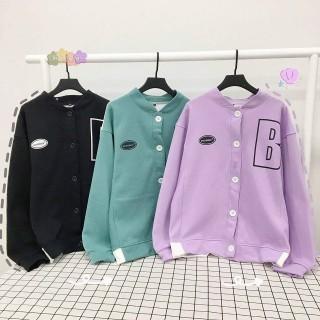 Áo hoodie, áo khoác thun nỉ nữ cực đẹp CADIGAN BOOMBER from rộng dài mềm mịn thoáng mát thumbnail
