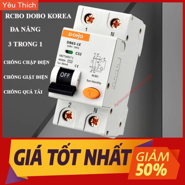 Bảng giá [HÀNG CHÍNH HÃNG] Cầu Dao Chống Giật RCBO 2P - 30mA DOBO KOREA đa năng - siêu nhạy - Aptomat chống giật test giật điện trực tiếp - Hàng Tốt - Sản phẩm được Khách Hàng tin dùng nhiều nhất Lazada 5 năm liền