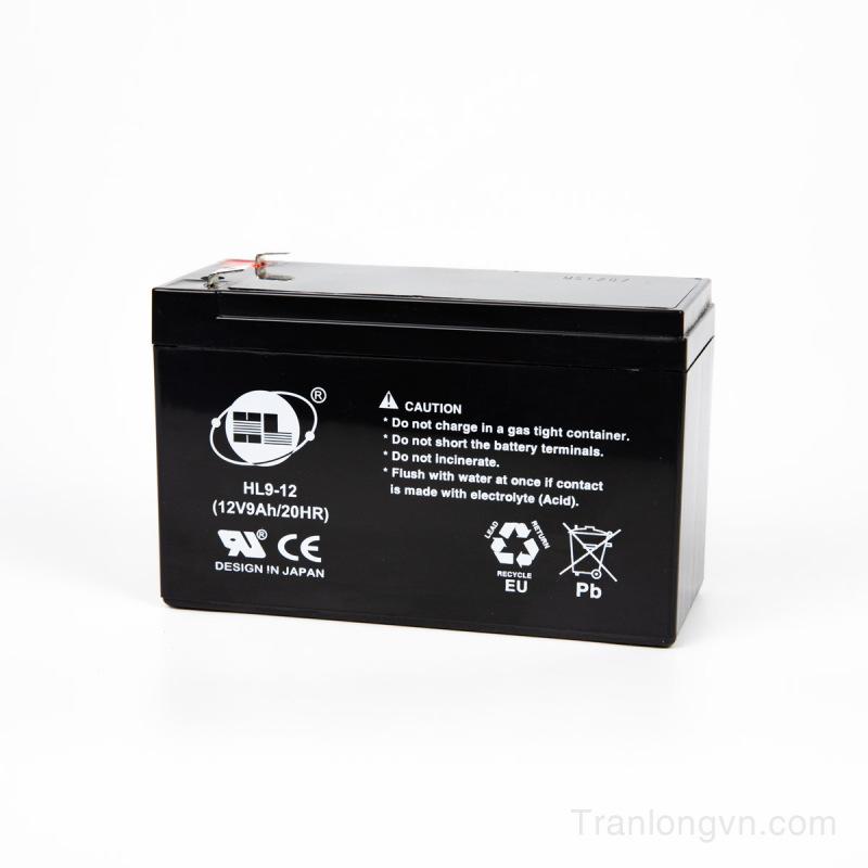 Bảng giá Ắc quy 12v-9Ah thương hiệu HL9-12; ắc quy lưu điện cửa cuốn; ắc quy tích điện Phong Vũ