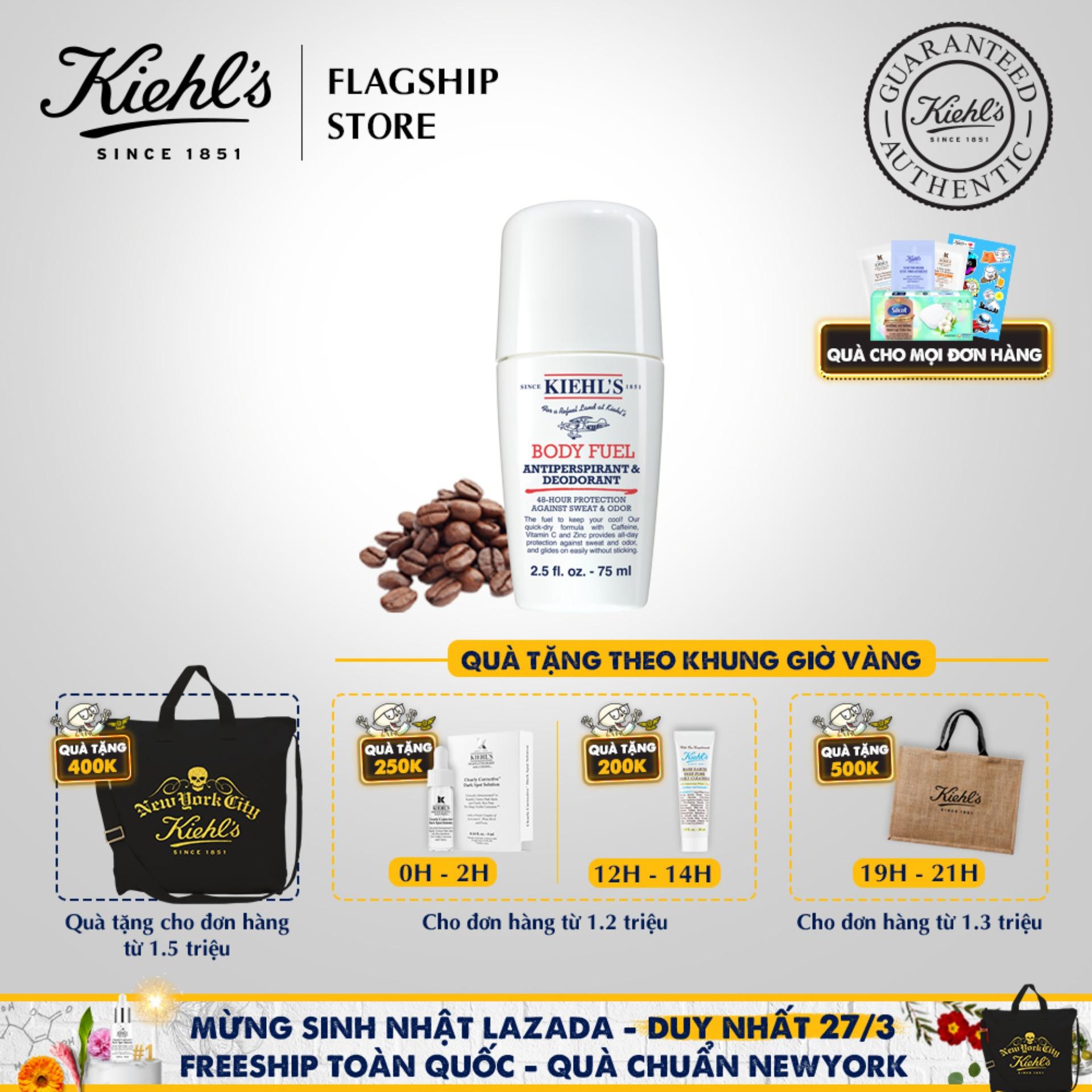 Lăn Khử Mùi và Giảm Mồ Hôi Cho Nam Kiehls Body Fuel Antiperspirant & Deodorant 75ML cao cấp