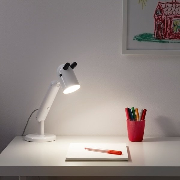 Đèn bàn học, đèn làm việc KRUX LED Ikea