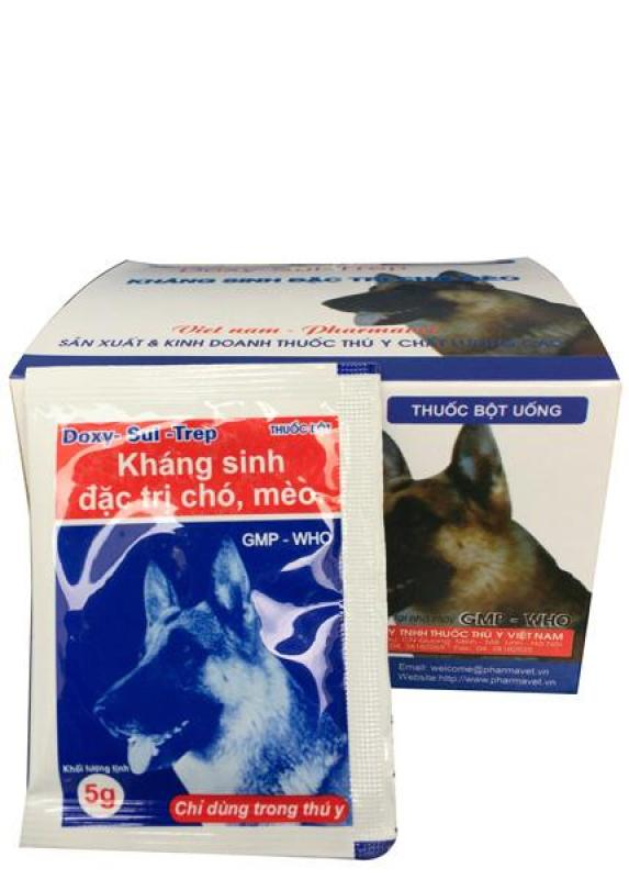 1 gói Kháng sinh đặc trị chó mèo - Doxy Sul Trep - phụ kiện thú cưng