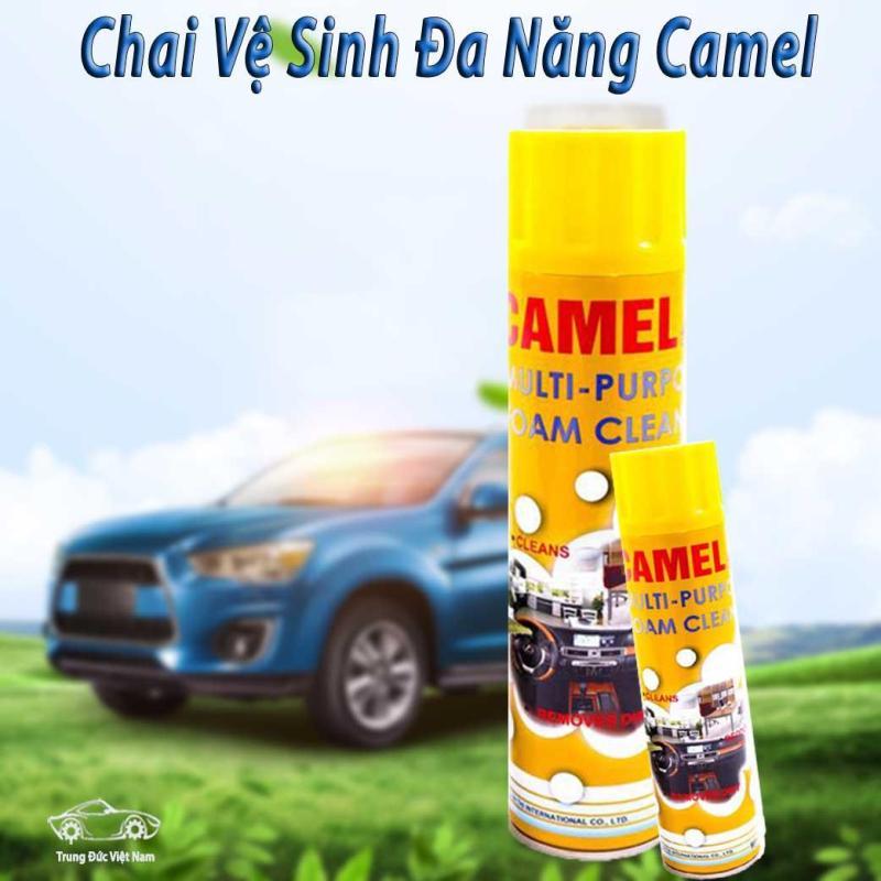 Chai Vệ Sinh Làm Sạch Nội Thất Ghế Da Túi Sách - Chai Xịt Đánh Bóng Ô Tô Xe Máy - Bọt Làm Sạch Đa Năng Camel