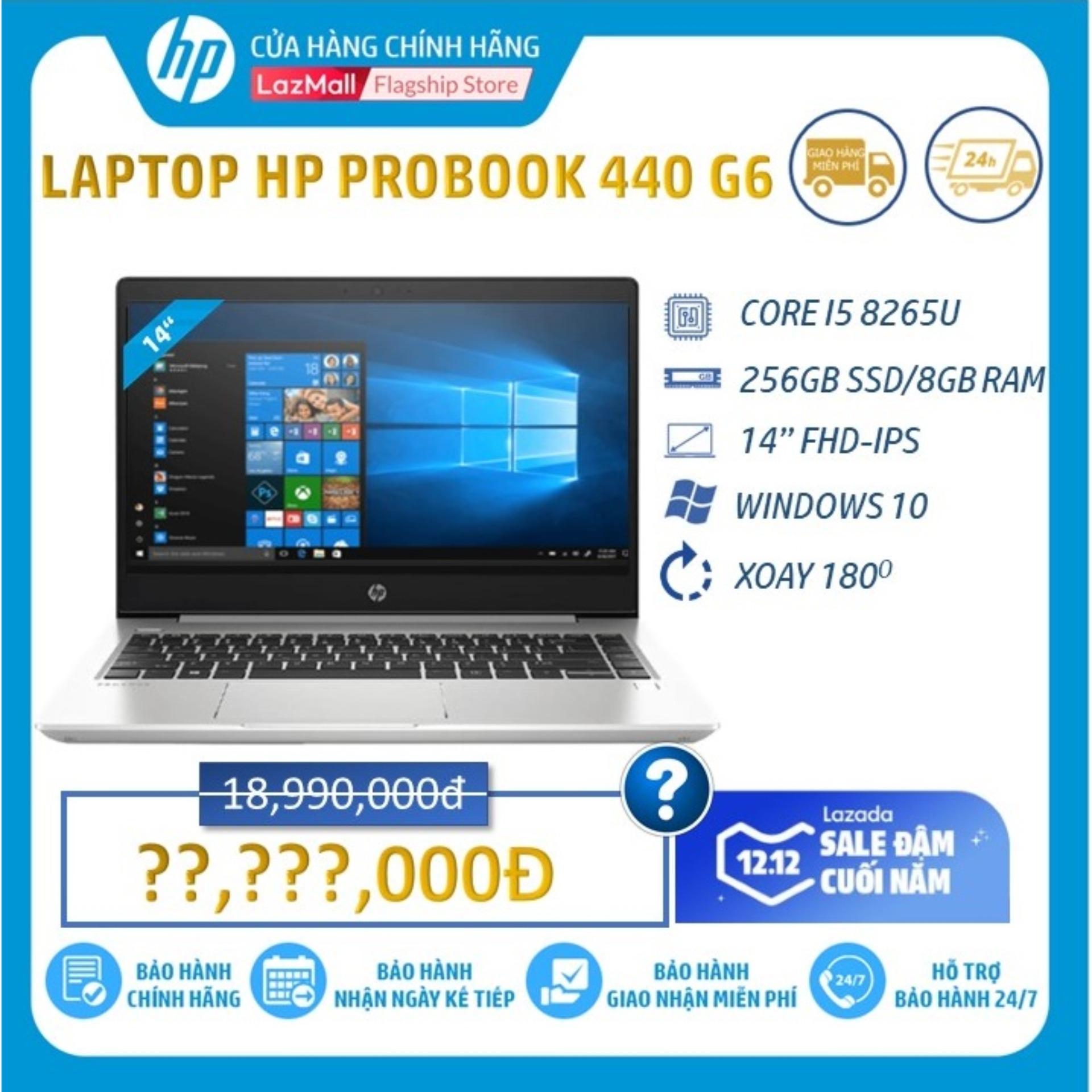 Giá Quá Tốt Để Có Laptop HP ProBook 440 G6 (Core I5-8265U/8GB RAM DDR4/256GB SSD/Intel UHD Graphics/14 FHD/Win10Home64)_8GV31PA - Hàng Chính Hãng
