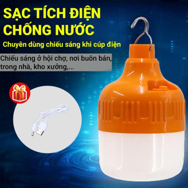 Đèn LED siêu sáng sạc tích điện Q021 chiếu sáng liên tục 6-8h, phạm vi chiếu sáng rộng, có móc treo đem theo rất tiện lợi, ánh sáng trắng ổn định và dịu mắt