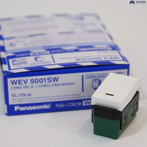 CÔNG TẮC ĐƠN, 1 CHIỀU PANASONIC WIDE - WEV5001SW ( 10 cái hộp/hạt lớn )