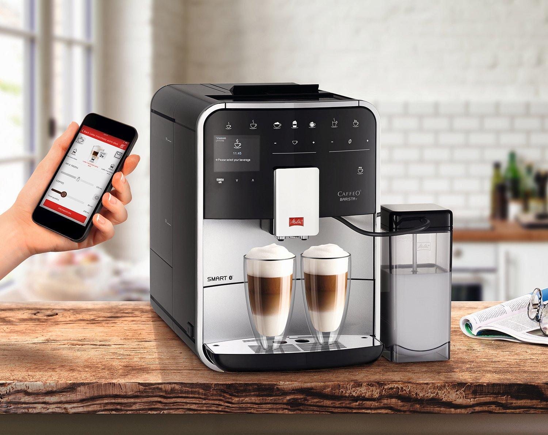 Máy pha cafe tự động, điều khiển điện thoại thông minh Melitta Caffeo Barista T Smart F830-101