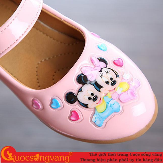 Giày bé gái micky mouse đẹp giày học sinh quai cài GLG109 giá rẻ