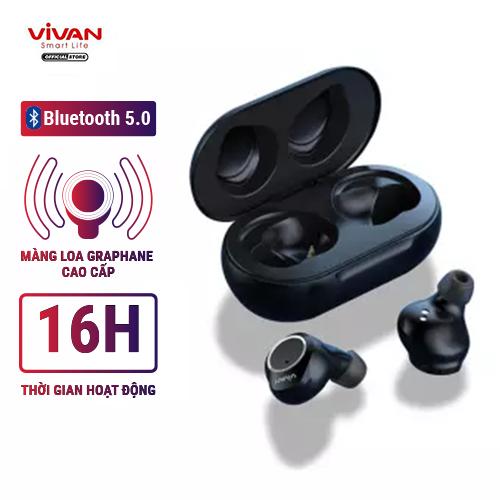 [VOUCHER 7% tối đa 500K] Tai Nghe Không Dây Bluetooth 5.0 VIVAN T100 True Wireless Siêu Gọn Nhẹ Cảm Ứng Thông Minh - BẢO HÀNH CHÍNH HÃNG 1 ĐỔI 1