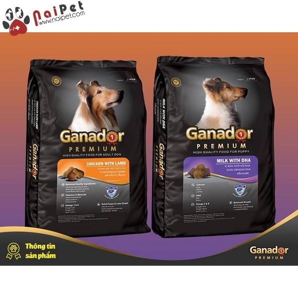 Thức Ăn Hạt Khô Cho Tất Cả Các Giống Chó Con Và Chó Lớn Ganador 3kg