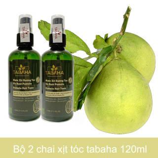 Bộ 2 chai tinh dầu bưởi tabaha giúp giảm rụng tóc tặng dầu gội dùng thử