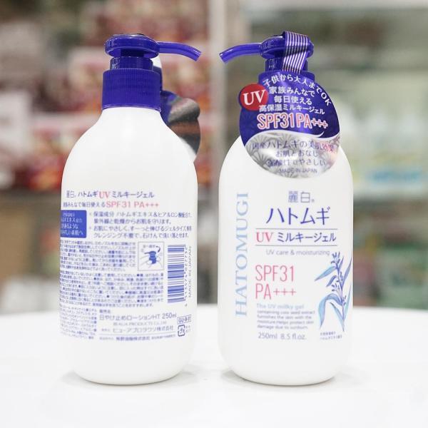 Sữa Dưỡng Thể Trắng Da Chống Nắng Hatomugi SPF 31/PA+++ Nhật Bản tốt nhất