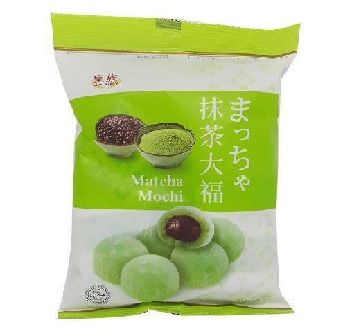 Bánh Mochi 4 Vị Trà Xanh/ Dâu Tây/ Đậu Đỏ/ Sữa Royal Family Gói 120g -10 bánh Date 12/2019