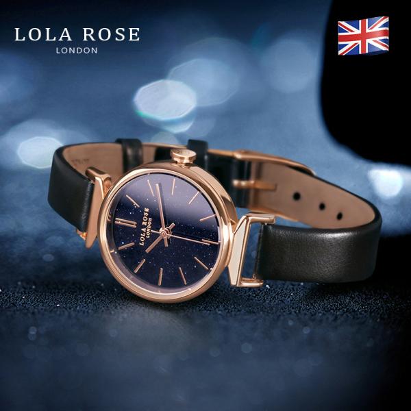 Đồng hồ nữ chống nước , đồng hồ nữ mặt tròn nhỏ Lola Rose đá bảo thạch galaxy lấp lánh cao cấp, dây đeo da bò Italy mềm mại, phù hợp với cô nàng công sở thanh lịch, bảo hành 2 năm LR2048 bán chạy