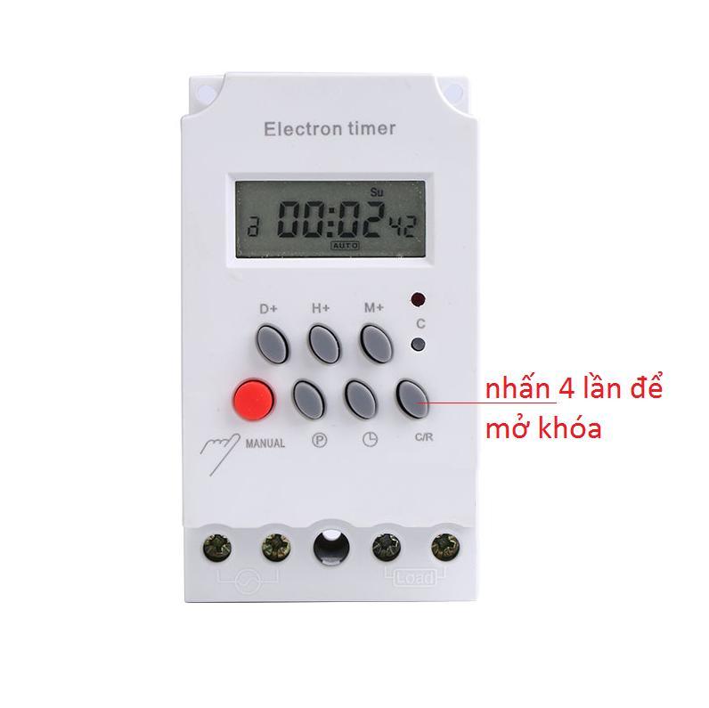 Công tắc hẹn giờ thông minh 17 chương trình Electron Timer KG316T II, timer hẹn giờ điện tử