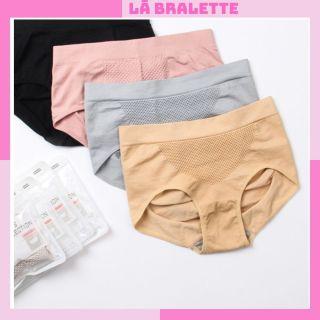 Quần lót nữ cotton cạp cao kháng khuẩn nâng mông cạp cao xuất Nhật Lá Bralette Q02 thumbnail
