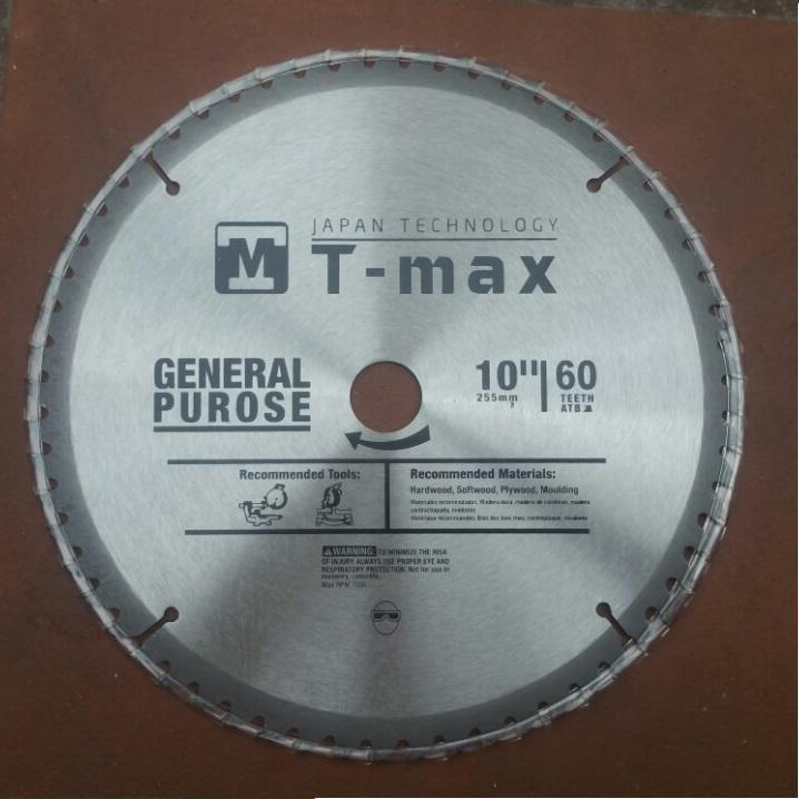LƯỠI CẮT GỖ T-MAX 60 RĂNG, LƯỠI CẮT NHÔM 255