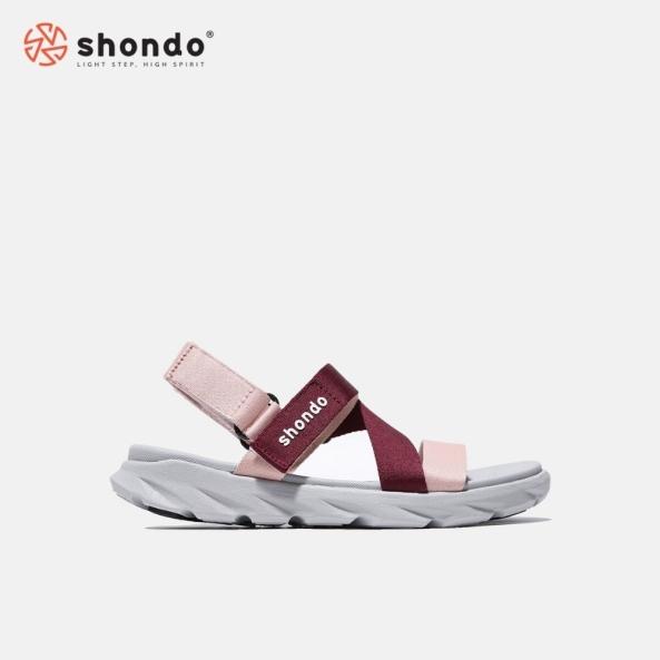 Giày Sandal Shondo đế xám ombre đỏ F6S2162 giá rẻ