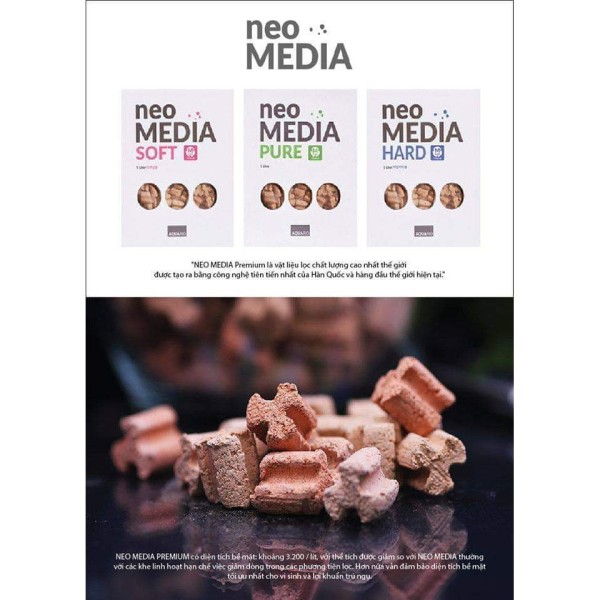 Vật liệu lọc cao cấp NEO Media Premium - 100ml~70g