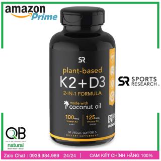 Made in USA, Vitamin K2 + D3 Sports Research, Phát Triển Chiều Cao cực đại cho thiếu niên - Người lớn chắc khoẻ xương thumbnail