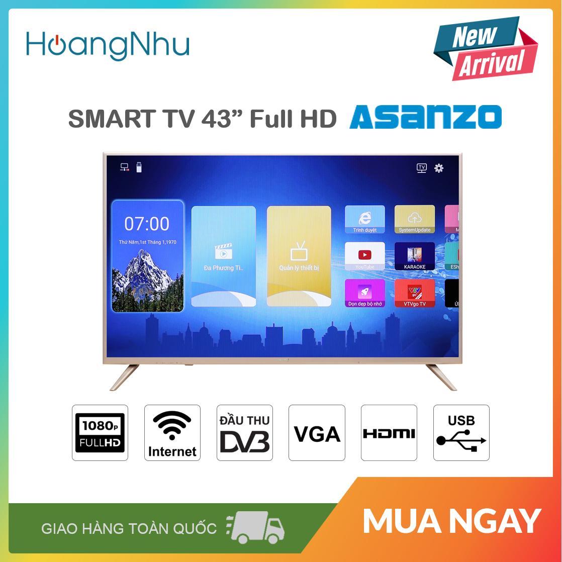 Bảng giá Smart Tivi Asanzo 43 inch Full HD Model 43AS560 (Android, Truyền Hình KTS) - Bảo Hành 2 Năm toàn quốc