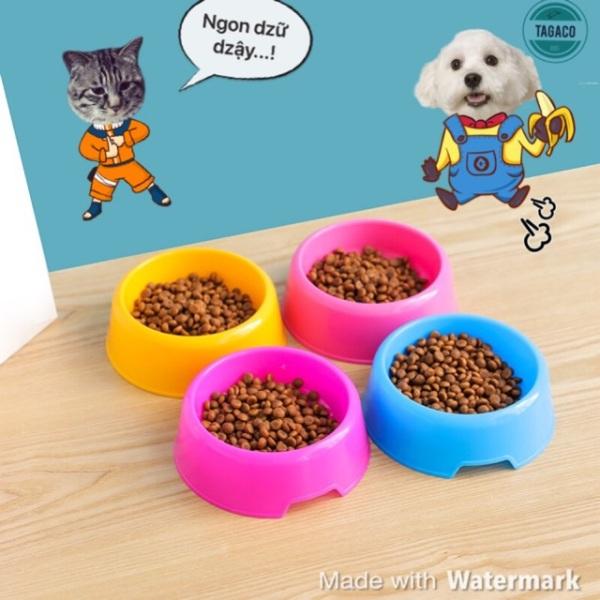 Bát Đựng Thức ĂnNước Uống Cho Chó Mèo Nhiều Màu