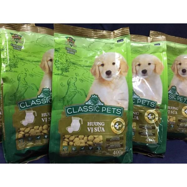 [HCM]Combo 5 túi thức ăn cho chó con vị sữa Classic Pets (400g/túi)